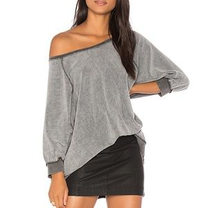 FREE PEOPLE MY PULLOVER INSIDE OUT SWEATSHIRT M